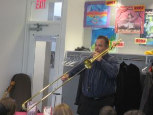 No, it's not a trombone. It's a proto-trombone.