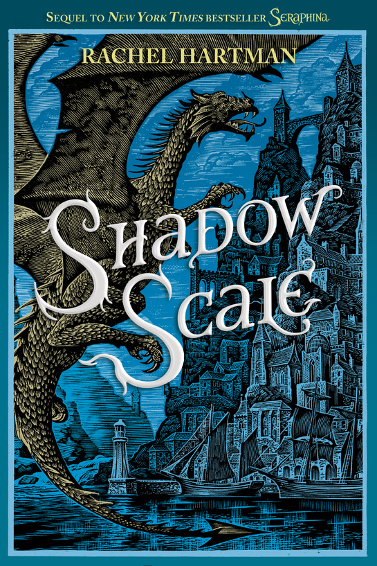 Oooh! Pretty! And I'm told it will have a sheen to it, like the purple Seraphina cover.